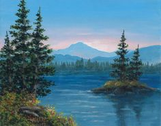 Acrylic Landscape Painting Island of Dreams by Maxiesgems on Etsy, $40.00