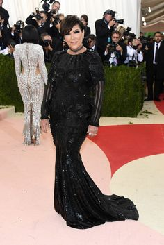 5/2/16 - Kris Jenner at the 2016 'Manus x Machina: Fashion In An Age of Technology' Met Gala in NYC.