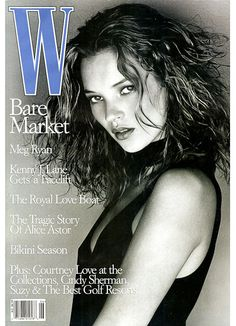kate moss in w