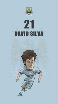 "Manchester city fan art mobile wallpaper ""David Silva"""