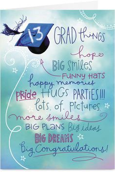 Taylor Swift Love Cards   13 Grad Things Graduation Congratulations Card