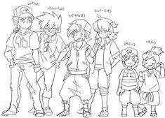 The tallest haha Pokemon Manga, Pokemon Alola, Pokemon Comics, Cool Pokemon, Pokemon Stuff, Pokemon Trainer Red, Pokemon Champions, Otaku, Pokemon Special