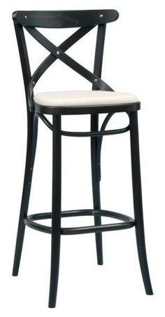 Number 149 Upholstered Crossback High Stool