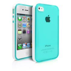 iPhone 4S Case, MagicMobile Hard Hybrid Flexible Transparent Slim Case for Apple iPhone 4/4S Rubberized TPU Impact Resistant Cover Skin Clear Case for iPhone 4 [White Frame] Bumper - Color: Turquoise. The Magic Mobile for iPhone 4 4s TPU Case provides full protection in the back and sides of the phone. Product made with specials elements of high quality TPU layer to resist dust, shocks and bumps. Snap-on fitting technology makes easy and fast to install the case on the phone and pretty…