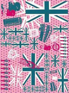3PK Decopatch Tissue Paper - Pink, White, Blue - Union Jack Print #580 3 sheets of decoupage/paper mache/collage paper.