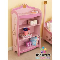 KidKraft Princess Bookcase for P's room - $110