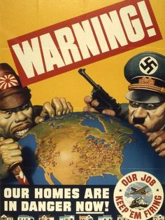 Warning - Our Homes Are in Danger Now - Vintage Reprint Poster: Warning - Our Homes Are in Danger Now - Vintage Reprint Poster Proudly Made in the U.A x Poster Printed on High Quality Paper Vintage Ads, Vintage Posters, Ww2 Propaganda Posters, World War Ii, Wwii, Illustration, Art Prints, Cover, Patriotic Symbols