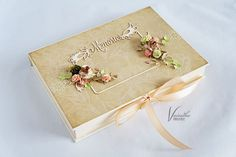 Pudełko na zdjęcia – Pudełka ślubne - kolor: kawowy, brązowy, wymiary: 17,5*24,5cm głębokość 3cm – Artillo