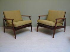 Pair of Mid-Century Danish Modern Teak Chairs - Imported by Moreddi #livingroom $2500
