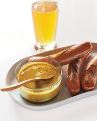 Spicy Beer Mustard -  Chef Jeremy Nolen updates German classics at Brauhaus Schmitz in Philadelphia, including this intense mustard for sausages (Food & Wine)