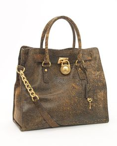 31 deserves a new bag....just over a month to go!  MICHAEL Michael Kors Hamilton Large Tote, Mocha Distressed - Neiman Marcus