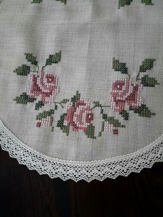 This Pin was discovered by . Cross Stitch Borders, Cross Stitch Rose, Cross Stitch Flowers, Cross Stitching, Cross Stitch Patterns, Hardanger Embroidery, Cross Stitch Embroidery, Embroidery Flowers Pattern, Embroidery Designs