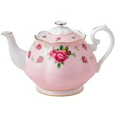 Have one to sell? Sell it yourself  Royal Albert New Country Roses Formal Vintage Teapot Pink