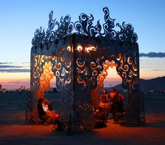 Fire Science at Burning Man #PoeticKinetics #FireInBalance #BurningManArt2014