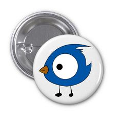 We designed some great images for our badges and this blue bird was one of them.  On our website you are able to insert text or even upload your image. Check it out if you're interest at badgetastic.com