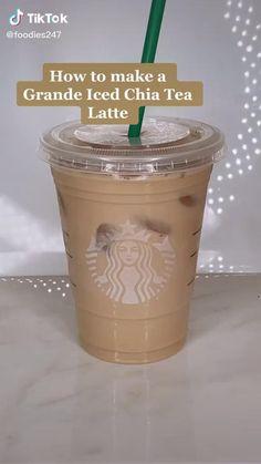 Secret Starbucks Recipes, Iced Starbucks Drinks, Bebidas Do Starbucks, Starbucks Coffee, Iced Coffee, Fun Baking Recipes, Tea Recipes, Smoothie Recipes, Smoothies