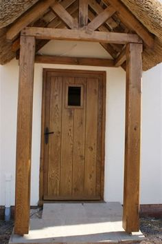 External Oak Door for a Traditional Thatched Cottage in the Westcountry.