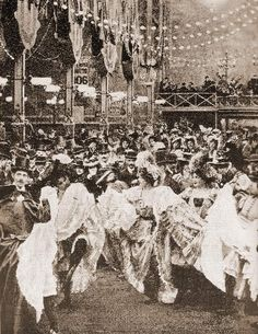 Can-Can dancers at the Moulin Rouge in the 1890's