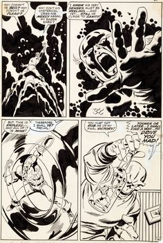 Captain America # 115, Page 16 - 1969 - Art by John Buscema and Sal Buscema.