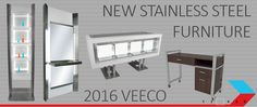 Veeco Salon Furniture + Design was the first company to bring Stainless Steel Cosmetology Furniture to the market 15 years ago. While our competitors have copied our designs and exported the work to China, Veeco still builds an all American line of Cosmetology Furniture. The line has now expanded into Steel and powdercoat varieties. http://veecomanufacturing.com/veecofurniture/cosmetologyfurniture.html