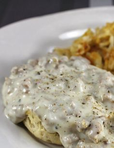 The Best Biscuits and Gravy, Ever. | foodsweet | foodsweet