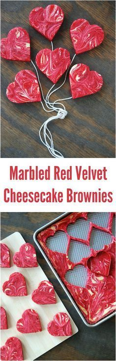 Marbled Red Velvet Cheesecake Brownies! Perfect Valentine's Day dessert!