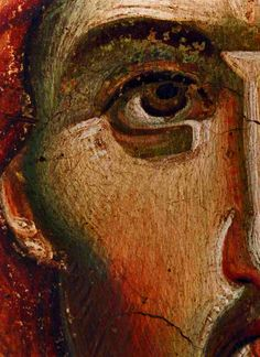 Icon detail by Manuel Panselenos Religious Images, Religious Icons, Religious Art, Byzantine Icons, Byzantine Art, La Pieta, Like Icon, Jesus Christus, Jesus Pictures