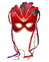Mardi Gras Masks - Red Venetian Mask