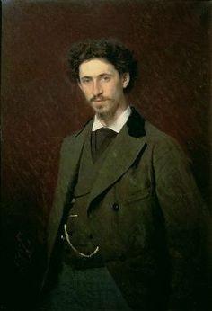 Ivan Nikolaevich Kramskoy, Portrait of Ilya Efimovich Repin, (1876)