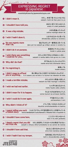 Japanese Phrases.