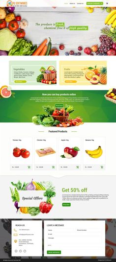 Organic Foods - eCommerce Website Template food commerce The Effective Pictures We Offer Food Web Design, Mobile Web Design, Web Design Tips, Web Design Company, App Design, Design Ideas, Website Design Inspiration, Ui Inspiration, Coimbatore