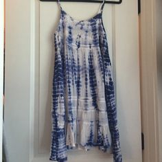 LOWEST PRICE! Cute beach dress Only worn once! Really cute tye-dye summer dress Dresses Mini