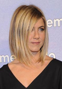 Corte de cabelo feminino para o inverno: Tendência Corte médio de Jennifer Aniston
