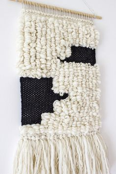 Woven wall hanging Woven tapestry Wool wall by weavingmystory
