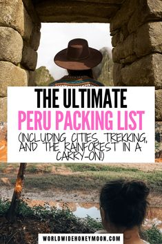 The ultimate Peru packing list including cities, trekking, and the Amazon Rainforest in just a carry on | Peru Packing List Women | Peru Packing List June | Peru Packing List Clothes | What to Pack for Peru | Peru Outfits | What to Wear in Peru | Packing Checklist for Peru #perupackinglist #peruoutfits #perutravel #peru Summer Packing Lists, Packing List For Travel, Travel Tips, Budget Travel, Time Travel, Travel Guides, South America Destinations, South America Travel, Travel Destinations