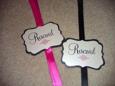 Customize with names? Custom Reserved Seat Signs for Weddings  Set of by ThePinkLantern, $26.00