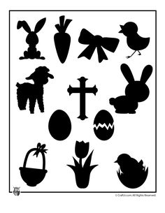 Easter Templates to Print Printable Easter Shapes – Craft Jr.