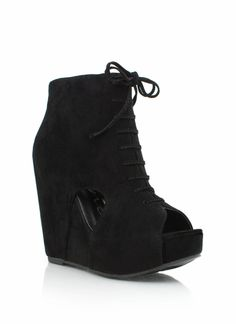 $28 peep-toe cut-out bootie