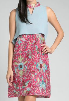 Batik Kebaya, Batik Dress, Blouse Dress, I Dress, Batik Fashion, Halloween Fashion, African Print Fashion, Simple Dresses, Dame
