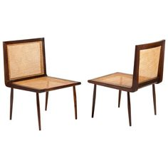 Pair of Low Chairs by Joaquim Tenreiro, Brazilian Design, circa 1950 Low Chair, Wood Structure, Furniture Decor, Dining Chairs, Pairs, Model, Literature, Running, Design