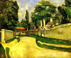 Houses on the Roadside by Paul Cézanne