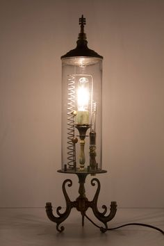 Jitterbug Lamp - anthropologie.com   WOW!!!!    Parts from hanging lamp, to recreate this