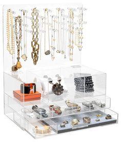 "GLAMclassic Jewelry box, 9"" X 20"", Without Acrylic Handles - Modern - Closet Organizers - by GLAMbox LLC."