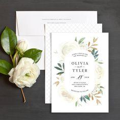 Floral Bouquet Wedding Invitations by Emily Crawford | Elli