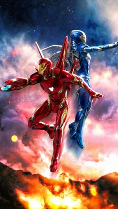 Iron Man and Pepper Potts Rescue Suit iPhone Wallpaper - iPhone Wallpapers