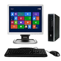 awesome HP Elite Windows 10 Desktop Computer C2D 3.0 PC 4 GB 160 GB DVDRW WiFi 17 inch Monitor LCD - Keyboard - Mouse - Powercord