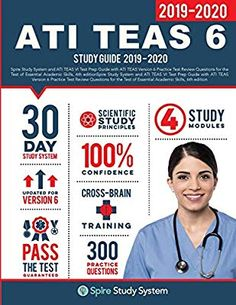 Binding: Paperback pages)Publisher: Spire Study System (May Spire Study System, 9781950159215 Teas Test Study Guide, Study Test, Exam Study, Ati Teas, Teas 6, Study Calendar, Guided Practice, Science Books, Test Prep