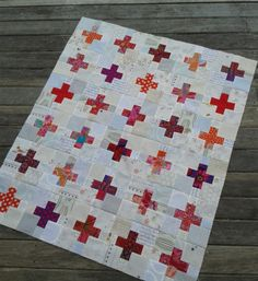 from Jaffa quilts - love the contrast between the background and center of blocks