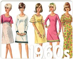 Mod Empire Waist Dress: Vintage 60s Sewing Pattern, Bell Sleeves, A-Line, Teen, Simplicity 6457 Junior Size 12T Bust 32, Complete, P-1705