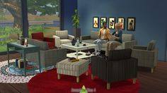 Around the Sims 4   Free Custom Content for the Sims 4   Object Download   IKEA Living Room
